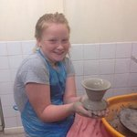 using the potters wheel with excellent tuition