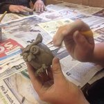Making clay animals