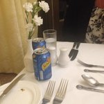 cans of lemonade and coke brought to us at dinner by waiter! £2.75 each.