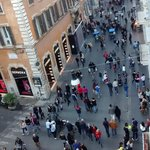 View of the Via del Corso from our room