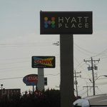 Hyatt sign and other signs