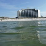View of hotel from Gulf of Mexico