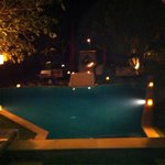 Our villa at night
