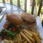 Room service on the terrace - cuban sandwich