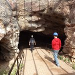 Entering the mine with Carey