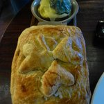 Beef & Guinness Pie at the bar of Schoolhouse Hotel
