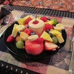 Fresh fruit starter for breakfast