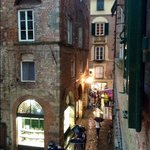 raining in Lucca and we loved our view