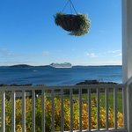 View from the ocean front lodge at the Bar Harbor Inn