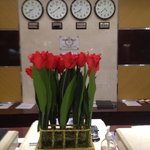 Fresh Tulips at front desk