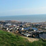 Hastings Old Town from the West Cliff.