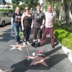 The tour group including me by John Lennon's star the day after his birthday
