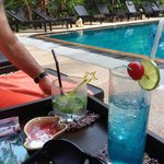 coctails by the pool
