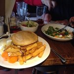 Steak and Ale pie, Salad, Warm couscous