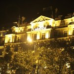 The Claridge at night