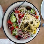 An authentic and delicious Greek salad.