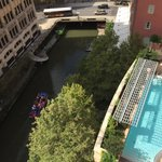 View of pool and Riverwalk from room balcony