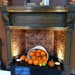 Hotel lobby ... decorated for Fall