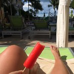 Popsicles poolside at the Hyatt!