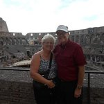,Our first stop was the Colosseum