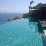 One infinity pool with outdoor bar and lounge area!!!