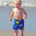 Grandson on Beach.