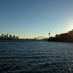 The view approaching Sydney from Manly