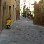 Love this pic of the scooter parked in one of the narrow streets