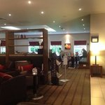 the loung and breakfast area at Holiday Inn, Taunton