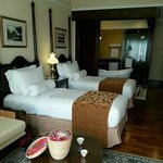 Twin bedded room for our stay.