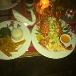 Fresh local lobster, OMG,  2 plates were needed