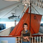Cameron at the Killer Whale Museum