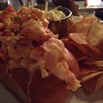 Lobster roll $25 (TIP: squeeze 2 lemon wedges on the lobster to take this roll on another level)