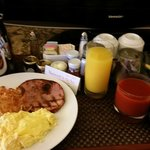 In room breakfast