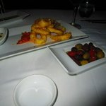 Our Starters; Calamari Fritti & Marinated Olives