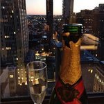 Complementary champagne and our amazing 20th floor view!