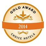 Proud Recipient of Choice Hotels Gold Award