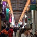 Center of shinsaibashi shopping area