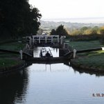 Looking out from the top of Caen Hill Locks