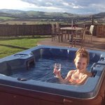Our 11 year old enjoying the hot tub