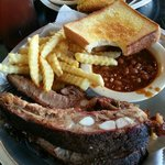 Ribs, fries, beans & Texas toast