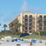 View from the beach of hotel