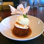 Carrot Cake and Ginger Ice Cream