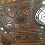 Beautiful ceiling in the Registration lobby