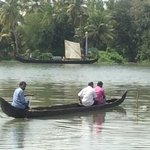 local canoe used to cross the river