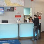 Check-in desk is small but efficient, and they'll get you in and out very quickly