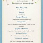 Early Bird Menu, Weds and Thurs, 5.30-7pm