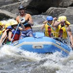 Hudson River Gorge rafting trip.  I am in the blue helmet!