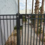 Pool gate with a padlock.  Is that even legal??