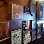 Part of the wall at Black's BBQ, as you walk in